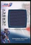 2012 Upper Deck USA Football U-19 National Team Future Swatch #U19FS2 Cameron Walker