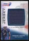 2012 Upper Deck USA Football U-19 National Team Future Swatch #U19FS3 Rodney Adams