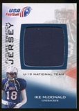 2012 Upper Deck USA Football U-19 National Team Future Swatch #U19FS5 Ike McDonald