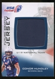 2012 Upper Deck USA Football U-19 National Team Future Swatch #U19FS8 Conor Hundley