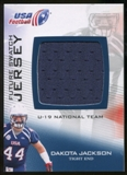 2012 Upper Deck USA Football U-19 National Team Future Swatch #U19FS9 Dakota Jackson