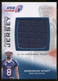 2012 Upper Deck USA Football U-19 National Team Future Swatch #U19FS10 Desmond Wyatt