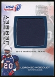 2012 Upper Deck USA Football U-19 National Team Future Swatch #U19FS11 Lorenzo Woodley