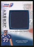 2012 Upper Deck USA Football U-19 National Team Future Swatch #U19FS15 Ethan Pocic
