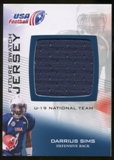 2012 Upper Deck USA Football U-19 National Team Future Swatch #U19FS16 Darrius Sims
