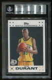 2007/08 Topps Rookie Set #2 Kevin Durant Rookie RC BGS 9 Mint