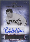 2013 Leaf Sports Heroes #CFBSC Bob St. Clair Canton's Finest Red Auto #5/5