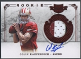 2011 Panini Plates and Patches #212 Colin Kaepernick Rookie Patch Auto #208/499
