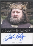 2012 Game of Thrones Season One Mark Addy as King Robert Baratheon Auto
