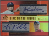 2004 SP Prospects #SJ Johan Santana & Jay Rainville Link to the Future Dual Auto #017/100