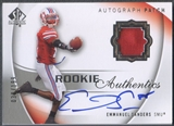 2010 SP Authentic #122 Emmanuel Sanders Rookie Patch Auto #038/199
