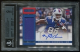 2013 Panini Rookies & Stars Jersey Autographs Marquise Goodwin BGS 9 Mint Auto 8