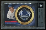 2012 Topps Gold #JD Joe DiMaggio World Series Champion Pins BGS 9 Mint