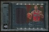2012/13 Panini Brilliance #32 Derrick Rose Game Time Jerseys BGS 9 Mint
