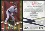 2009 Upper Deck Spectrum Spectrum Swatches Patch #SSDJ Derek Jeter 21/25