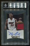 2012/13 Panini Select #260 Norris Cole Jersey Auto BGS 9 Mint Auto 10 Serial #47/249