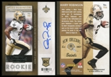 2013 Panini Contenders #154B Khiry Robinson RC Auto SP Photo Variation
