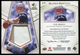 2008 SP Rookie Threads Super Swatch Patch 10 #SSTB Tom Brady 2/10