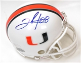 Clinton Portis Autographed University of Miami Hurricanes Mini Helmet (Steiner)