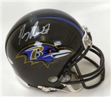 Ray Rice Autographed Baltimore Ravens Mini Helmet (Steiner)
