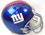 Hakeem Nicks & Mario Manningham Autographed New York Giants Full Size Helmet (JSA)
