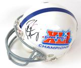 Peyton Manning Autographed Indianapolis Colts/Super Bowl XLI Mini Helmet (Steiner)