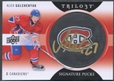 2013/14 Upper Deck Trilogy #SPAG Alex Galchenyuk Signature Rookie Puck Auto