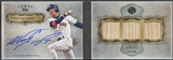 2013 Topps Five Star #NG Nomar Garciaparra Triple Relic Book Bat Auto #14/49