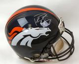 Peyton Manning Autographed Denver Broncos Full Size On Field Helmet (Mounted Memories)