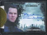 2014 Rittenhouse Star Trek Movies Autographs #35 Benedict Cumberbatch issued as 9-case incentive Into Darkness