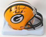 "Don Majkowski Autographed Green Bay Packers Mini Helmet w/""Majik Man"" Inscription (JSA)"