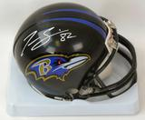 Torrey Smith Autographed Baltimore Ravens Mini Helmet (JSA)