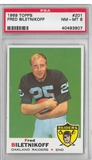 1969 Topps Football Fred Biletnikoff PSA 8 (NM-MT) *3807