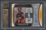 2005/06 SP Authentic #102 Monta Ellis Rookie Auto #0732/1299 BGS 9.5