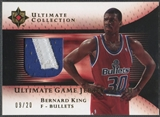 2005/06 Ultimate Collection #UJPBK Bernard King Gold Patch #09/20