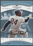 2001 Donruss Classics #164 Willie Mays Significant Signatures Auto SP
