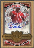 2006 SP Legendary Cuts #BL Barry Larkin Memorable Moments Auto #25/50
