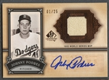 2005 SP Legendary Cuts #JP Johnny Podres Classic Careers Jersey Auto #01/25