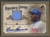 2005 SP Legendary Cuts #TR Tim Raines Legendary Lineage Material Jersey Auto #10/25