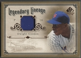 2005 SP Legendary Cuts #DG Dwight Gooden Legendary Lineage Patch #40/50