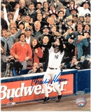 "Charlie Hayes Autographed New York Yankees ""96 World Series Last Out"" 8x10 Photo (Leaf)"