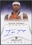 2012/13 Immaculate Collection #IT Isaiah Thomas Inscriptions Rookie Auto #52/99