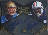2012 Upper Deck All-Time Greats #ATF2AJ Bo Jackson & Troy Aikman SPx All-Time Dual Forces Auto #01/15