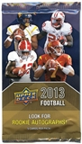 2013 Upper Deck Football Retail 24-Pack Lot