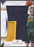 2012/13 Immaculate Collection #GH Gordon Hayward Numbers Patch #01/31