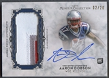 2013 Topps Museum Collection #MJPAAD Aaron Dobson Jumbo Patch Auto #02/20