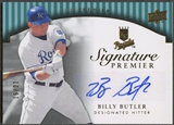 2008 Upper Deck Premier #BU Billy Butler Signature Premier Gold Jersey Number Auto #16/21