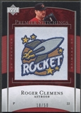 2007 Upper Deck Premier #49 Roger Clemens Premier Stitchings Patch #18/50