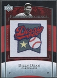 2007 Upper Deck Premier #46 Dizzy Dean Premier Stitchings Patch #09/35
