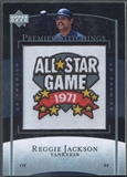 2007 Upper Deck Premier #20 Reggie Jackson Premier Stitchings Patch #21/35